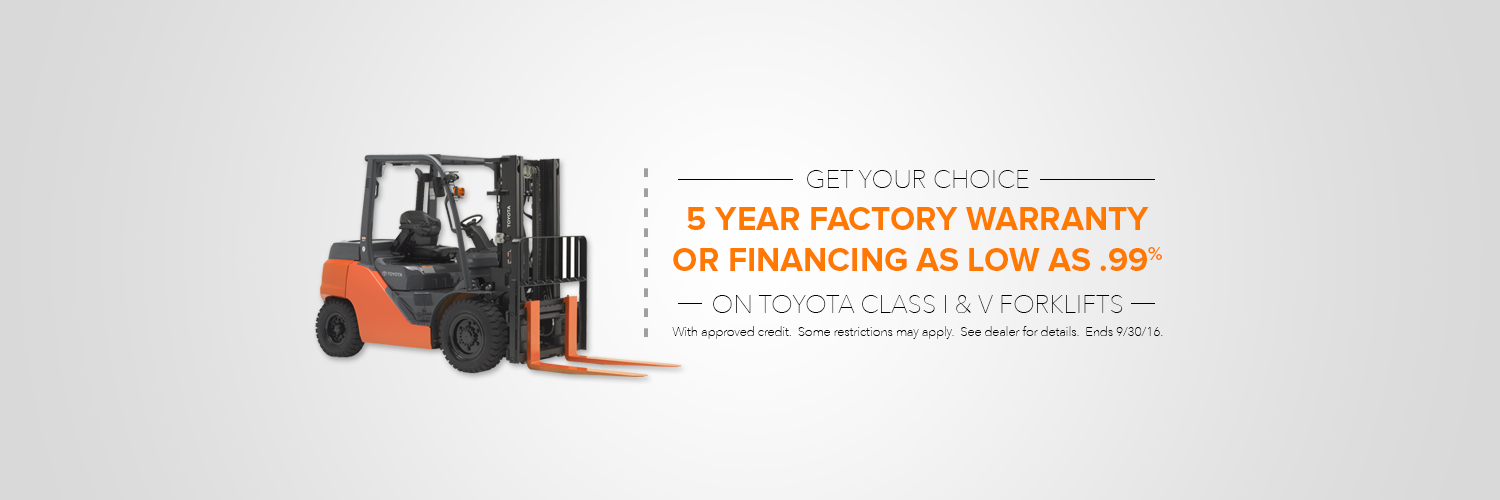 Toyota Forklift Your Choice Sales Event