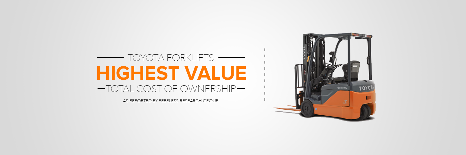 Toyota forklifts highest value - total cost of ownership