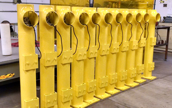 Dock light, Warehouse, Forklift, Bollard, LED, Safety